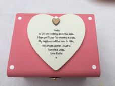 Shabby Wedding Gift For Bride To Be Trinket Large gift Memory box personalised - 332362842307